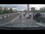 Horrible car accident! Motorcycle gone
