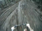 Mountain bike Wipeout into the Mud