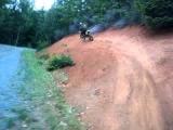 Crashing on a stupid little birm on my dirt bike