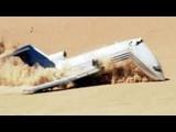 Plane Crashes Head First