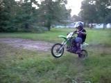 Kx 65 Dirtbike Wheelie crash