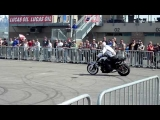 BMW Motorcycle Stunt Team at Miller Motorsports Park World SBK Round
