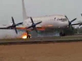 Ilyushin IL-18 Rejected takeoff: Aircraft went out of the runway
