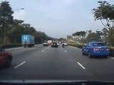 Car Accident In Singapore (KJE Towards Tuas)
