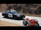 Supermoto Police Chase