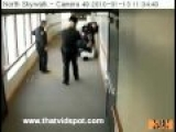 Dumb Criminal Fails Trying To Jump Out Of Bulletproof Window