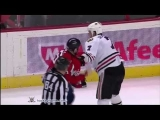 Brent Seabrook vs Jason Chimera Mar 13, 2011