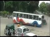 scary bus accident crashes to a car compilation new 2012