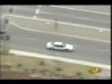 Wrong way police chase