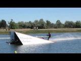 Brian Kinney water ski jump crash