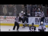 Ryane Clowe vs Kyle Clifford Apr 5, 2012