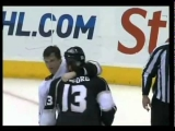 Teemu Selanne vs Brad Richardson Fight April 9/2011