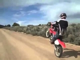 BIGGEST WIPEOUT ON A DIRT BIKE (almost)