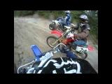 Crash on dirtbike with GoPro Head Cam