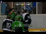 SLOhokej: Partizan – Olimpija OPTA TUA / Hockey Fights