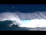 Jaws Jet SKi Over the Falls with Jason Polakow sailing