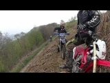 dirt bike enduro trail off road action filmed on gopro