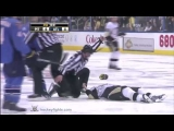 Matt Cooke vs Evander Kane Apr 10, 2010