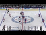 Hockey : New Jersey Devils vs New York Rangers start of game line brawl March 19, 2012 [3 fights]