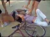 Two Person Bike Jump Wipeout