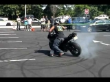 Stunt show at Motorcycle Mall