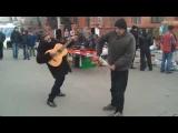 Break dance performed by drunks