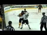 3 Hockey Fights in 4 Seconds! and 2 Goals in 45 Seconds! (Bruins vs Stars 02/03/11)