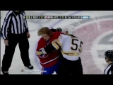 Johnny Boychuk vs Ryan White Mar 8, 2011