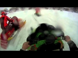 Snowmobile Racing Accidents, close calls, highlights and funny commentary